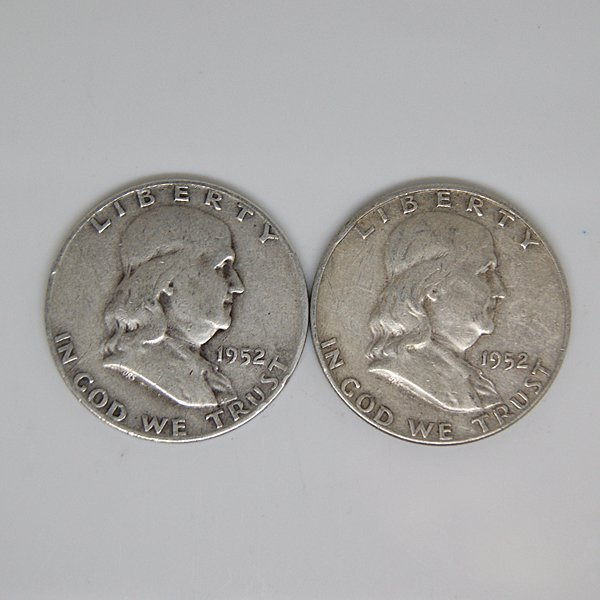 $1 Face Value of 90% Silver Franklin Half-Dollar