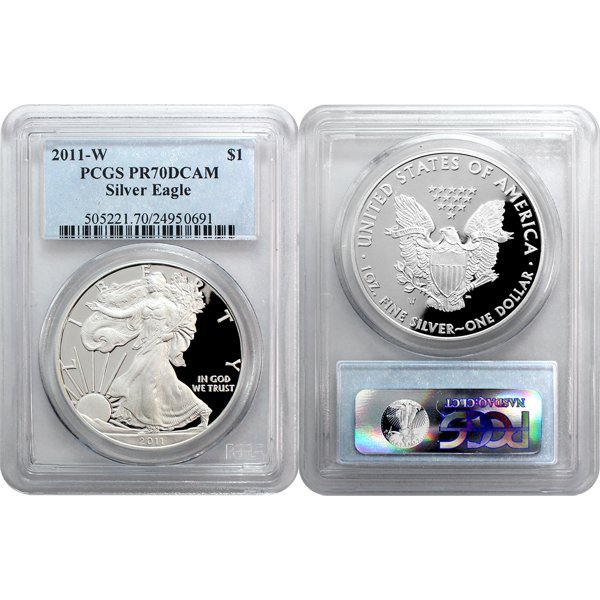 2011-W 1 Oz Proof Silver Eagle PR70 PCGS