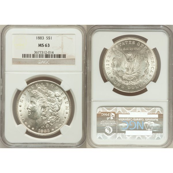 1883 $1 Morgan Silver Dollar MS63 NGC