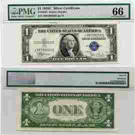 1935-C $1 Silver Certificate UNC 66 PMG
