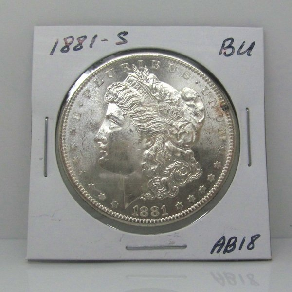 1881-S Morgan Dollar - Uncirculated #AB18
