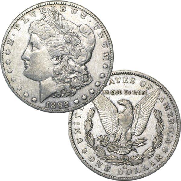 1892-CC $1 Morgan Dollar - Almost Uncirculated