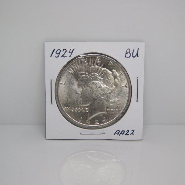 1924 Peace Silver Dollar - Uncirculated #AA22