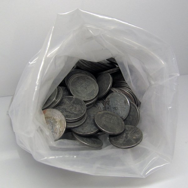 100 pc Bag 1943-P-S-D Lincoln Steel Wheat Cents