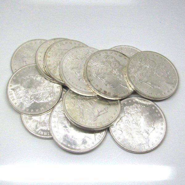 10-Coin Set: Morgan Silver Dollars - Uncirculated