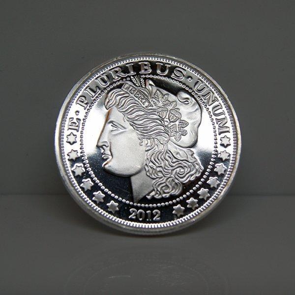 1 Oz Morgan Dollar Design .999 Fine Silver Round