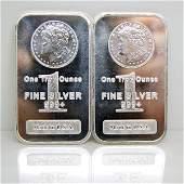 2-Bar Set: Morgan Design .999 Silver Bars