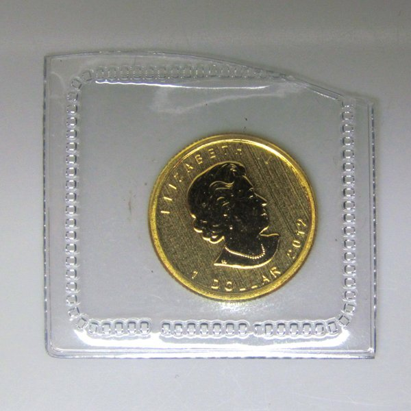1/20 Oz BU 24k Gold Canadian Maple Leaf - Random Date!