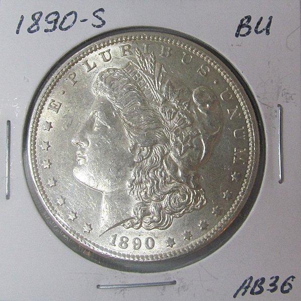 1890-S Morgan Dollar - Uncirculated #AB36