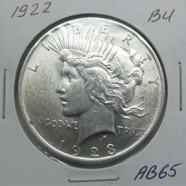 1922 Peace Silver Dollar - Uncirculated #AB65