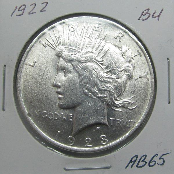 1922 Peace Silver Dollar - Uncirculated #AB65