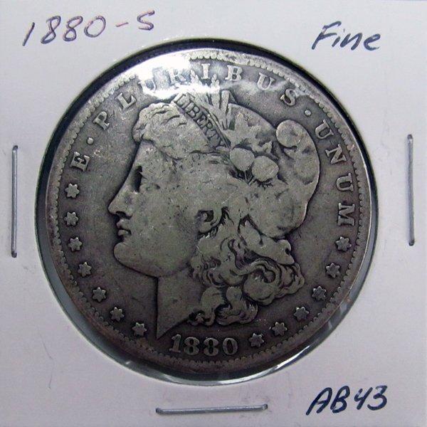 1880-S Morgan Dollar - Fine #AB43