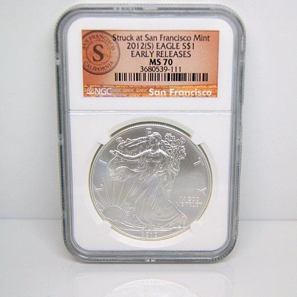 2012-(S) Silver Eagle San Francisco ER MS70 NGC