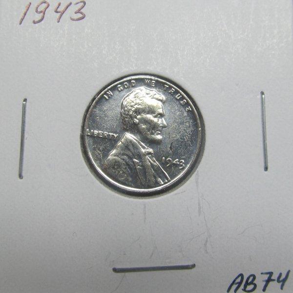 1943 BU Steel Wheat Cent #AA74