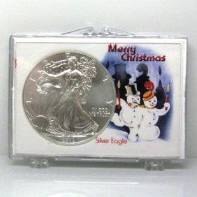 BU Silver Eagle - Merry Christmas Snowman