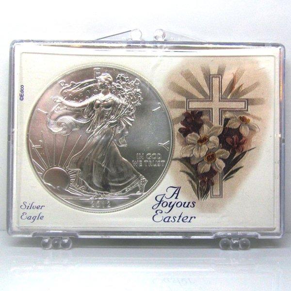 BU Silver Eagle - Easter Cross Snap Lock