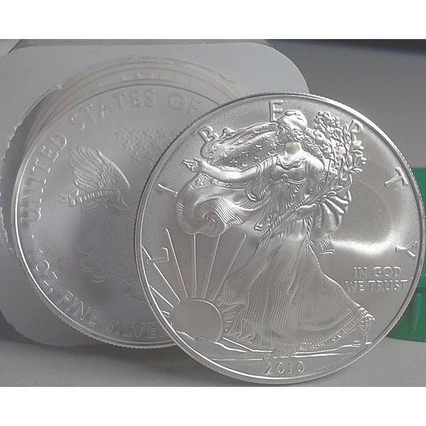 (10) Silver American Eagles - Brilliant Uncirculated