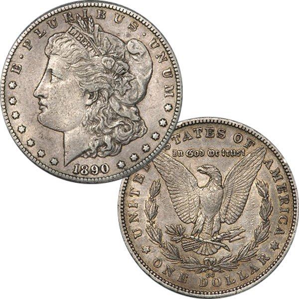 1890-CC $1 Morgan Dollar - Extra Fine