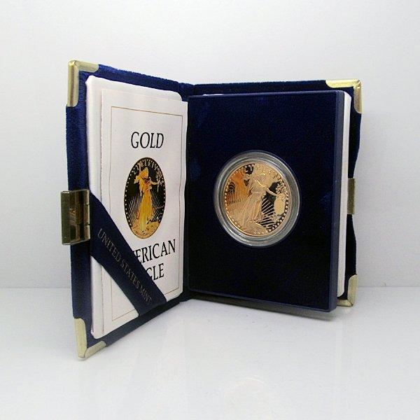 $50 1 Oz Proof Gold American Eagle w/Box&CoA