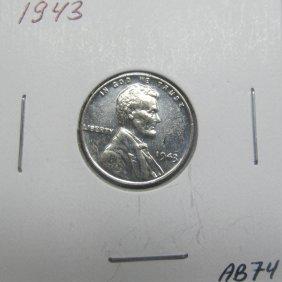 1943 BU Steel Wheat Cent #AB74