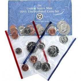 1991-D & P United States Mint Coin Set