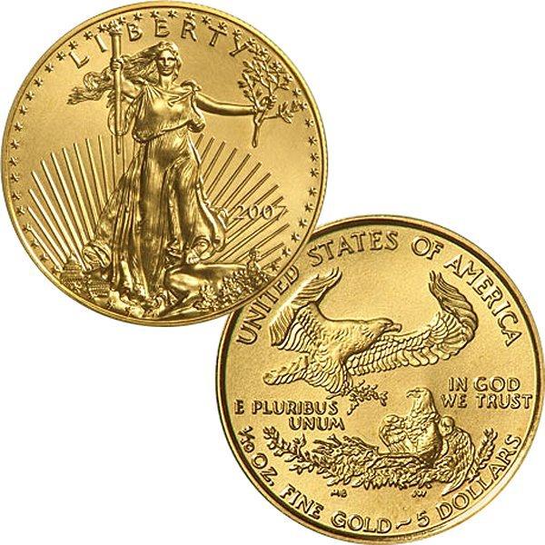 1/10 Oz Gold American Eagle - Brilliant Uncirculated