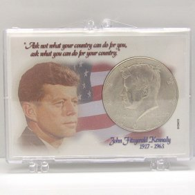 90% Silver Kennedy Half Dollar W/Snap Lock #2