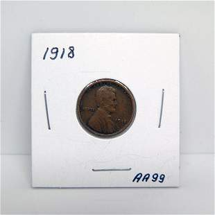 1918 Lincoln Wheat Cents #AA99