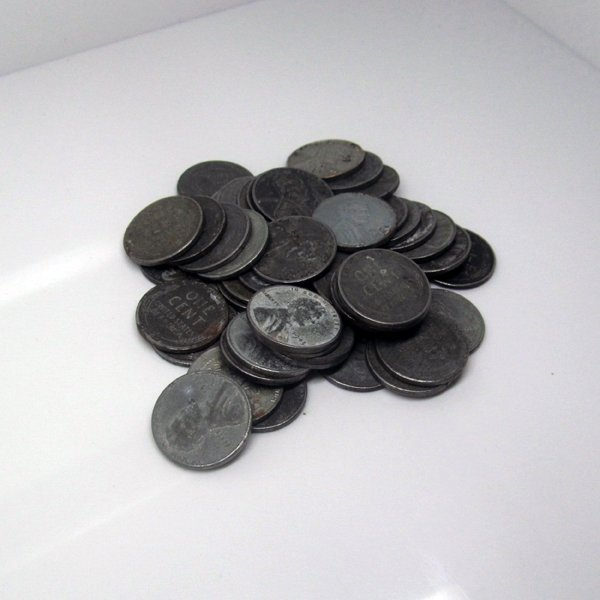 50 pc 1943-P-S-D Lincoln Steel Wheat Cents