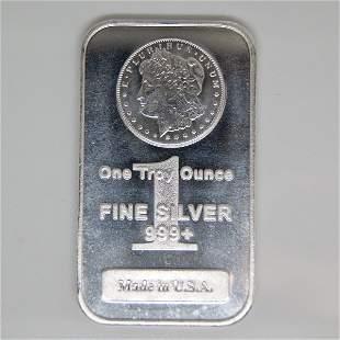 1 Oz Morgan Design .999 Fine Silver Bar