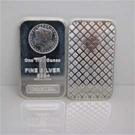 1 Oz Morgan Design .999 Fine Silver Bar