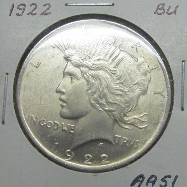 1922 Peace Silver Dollar - Uncirculated #AA51