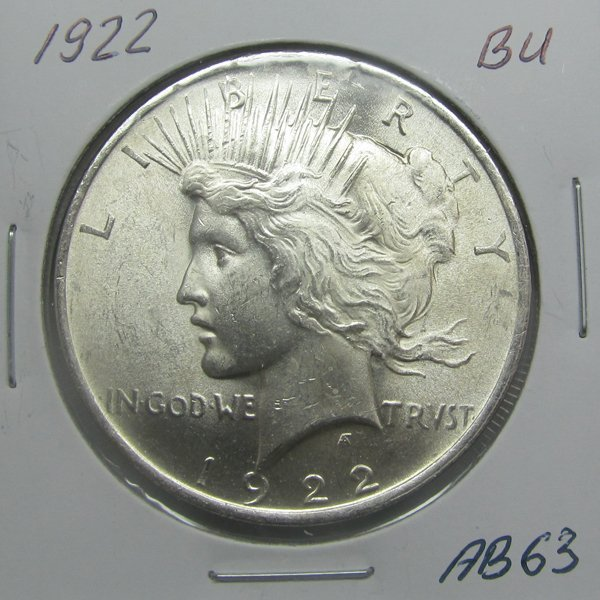 1922 Peace Silver Dollar - Uncirculated #AB63