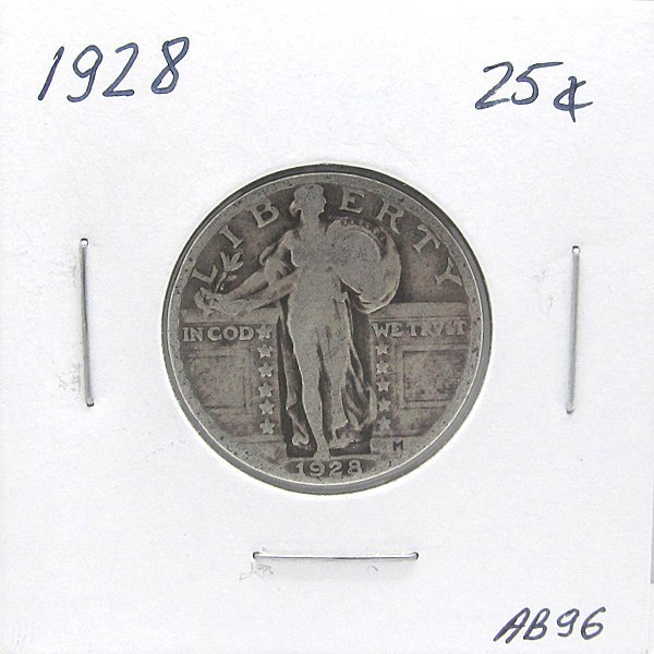 1928 Standing Liberty Quarter 90% Silver #AB96