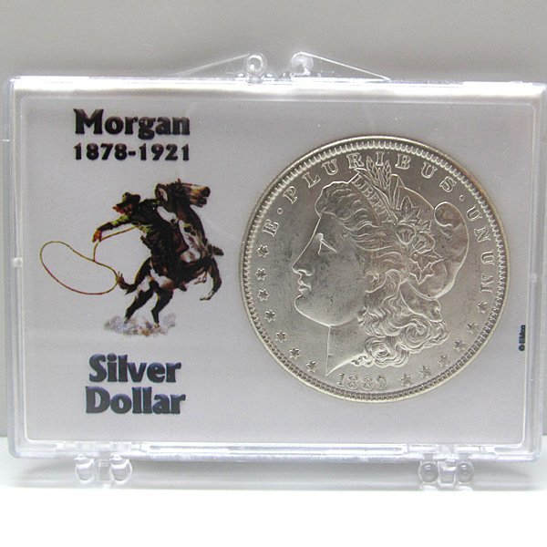 Morgan Dollar Uncirculated w/Snap Lock Holder #1
