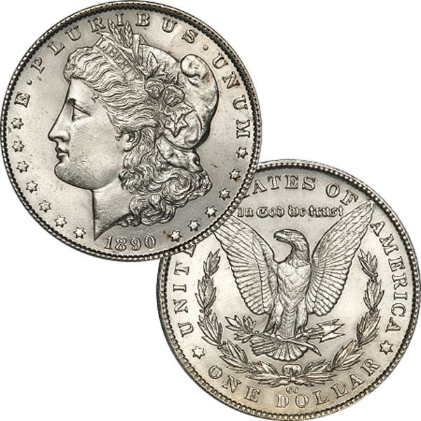 1890-CC $1 Morgan Dollar - Uncirculated