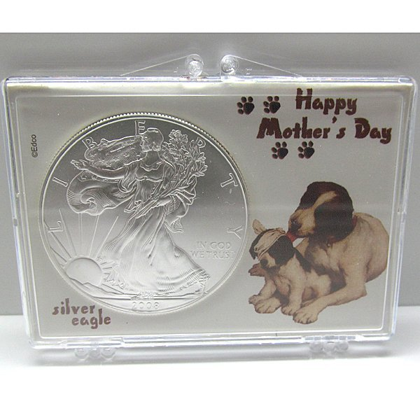 BU Silver Eagle - Mothers Day Hound with Puppy
