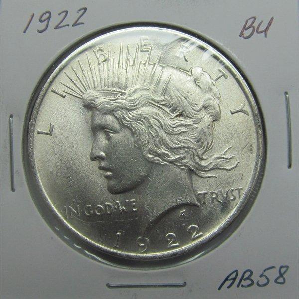 1922 Peace Silver Dollar - Uncirculated #AB58