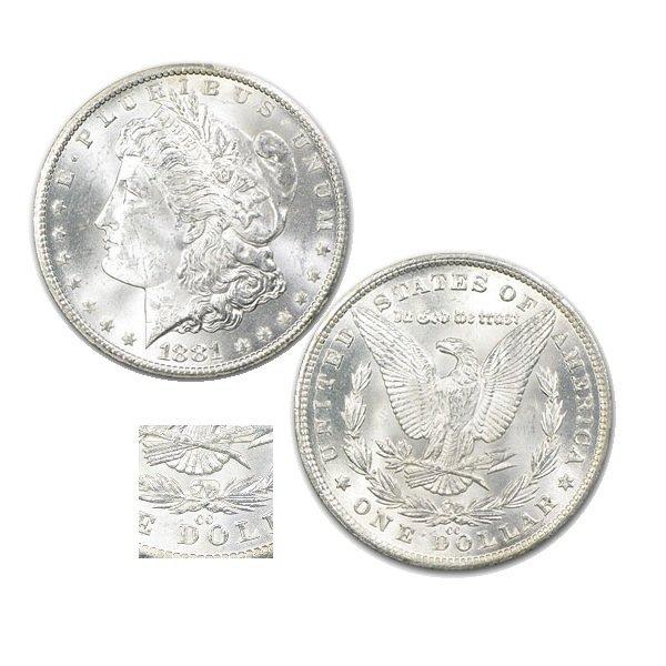1881-CC $1 Morgan Dollar - Uncirculated