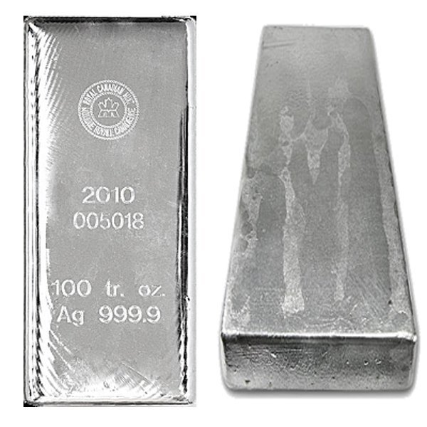 100 Oz Royal Canadian Mint RCM Silver Bar .9999 Fine