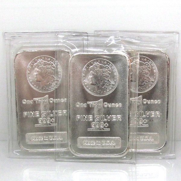 3-Bar Set: Morgan Design .999 Fine Silver Bars