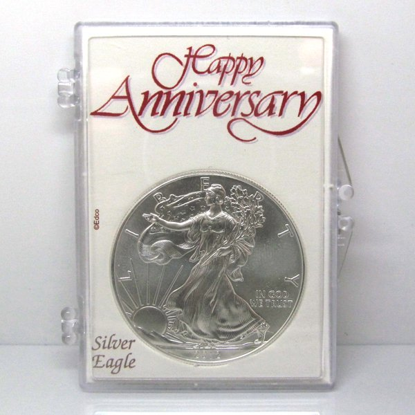 BU Silver Eagle - Happy Anniversary Snap Lock