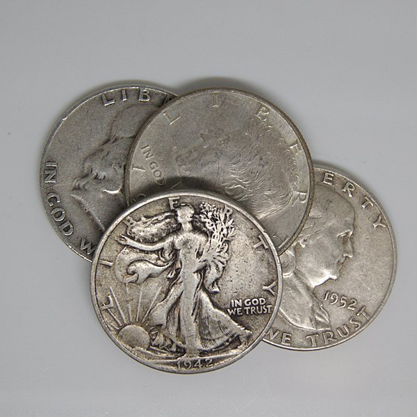 $2 Face Value of 90% Silver - Only Halves