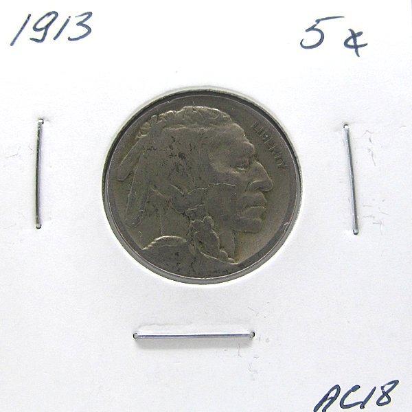 1913 Buffalo Nickel #AC18