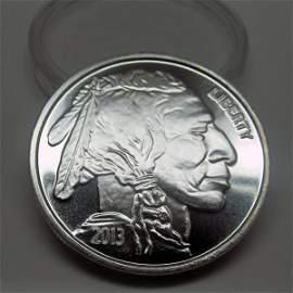 1 Oz Buffalo Design .999 Fine  Silver Round