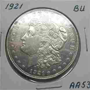 1921 Morgan Dollar - Uncirculated #AA53