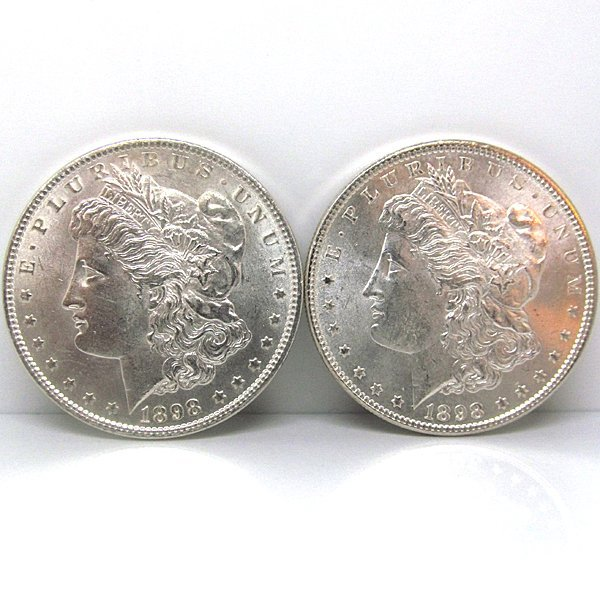 2-Coin Set: Morgan Silver Dollars - Uncirculated