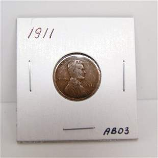 1911 Lincoln Wheat Cents #AB03