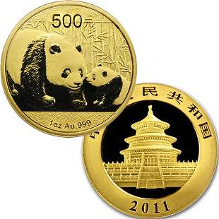 1 Oz Gold Chinese Panda - Brilliant Uncirculated