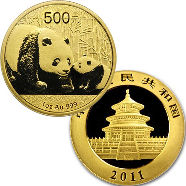 1 Oz Gold Chinese Panda - Brilliant Uncirculated